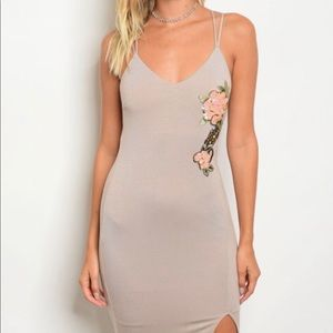 Dresses & Skirts - Tan Fitted Bodycon Dress
